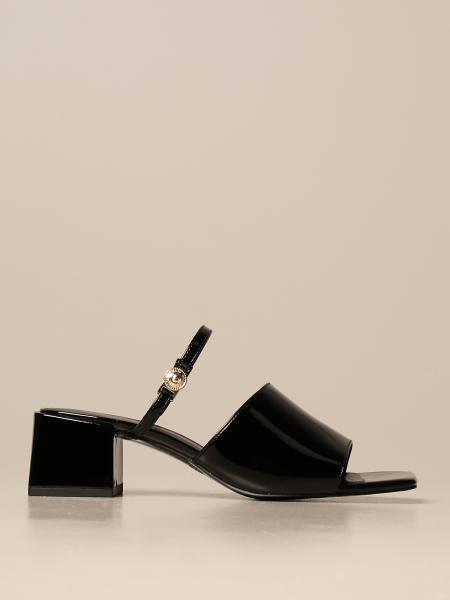 Sandali con tacco sandalo versace jeans couture in vernice Versace Jeans Couture - Giglio.com