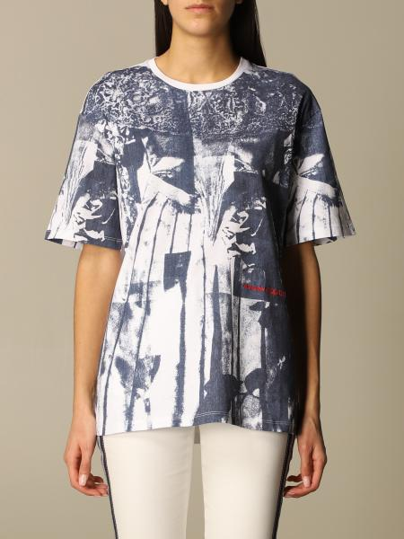 Alexander Mcqueen: T-shirt Alexander McQueen in cotone stampato