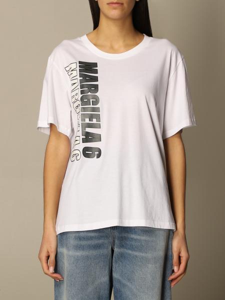 Maison Margiela: T-shirt femme Mm6 Maison Margiela