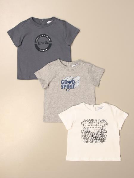 Set 3 t-shirt Emporio Armani in cotone con logo
