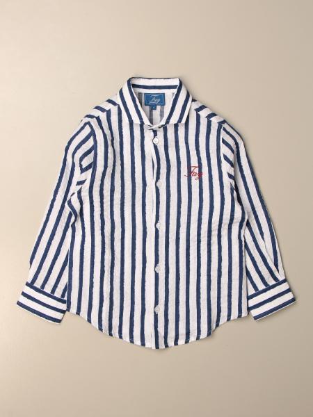 Camicia Fay in cotone a righe con logo
