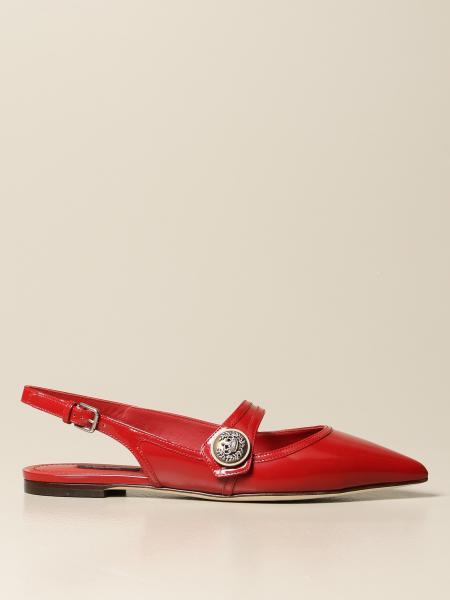 Slingback flat Dolce & Gabbana in vitello lucido