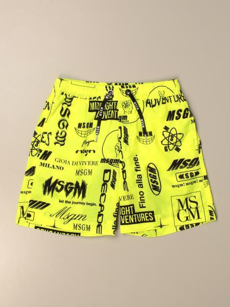 Costume a boxer Msgm Kids con logo all over