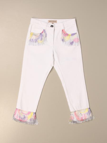 Emilio Pucci trousers with colored micro fringes