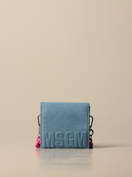 Borsa Msgm Kids in denim