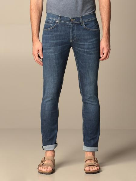 Jeans a vita bassa Dondup in denim used