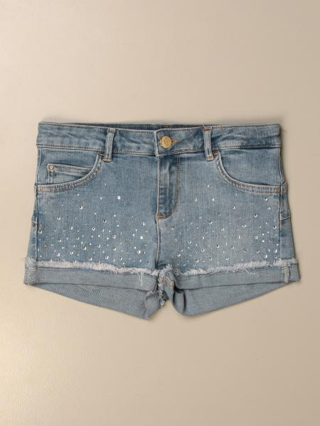 Pantaloncino di jeans Liu Jo con strass