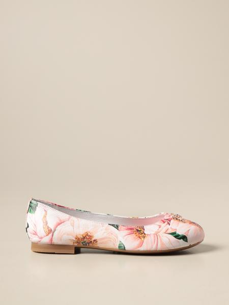 Dolce & Gabbana ballerina in nappa with floral print