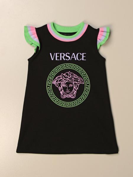 Young Versace: Abito in cotone Versace Young con testa di medusa