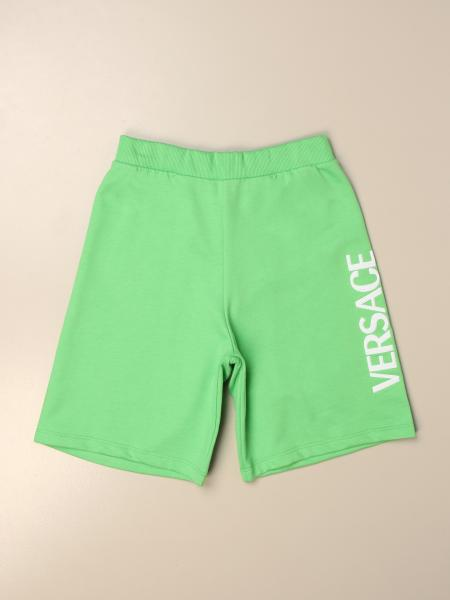 Versace Young jogging shorts in cotton with logo