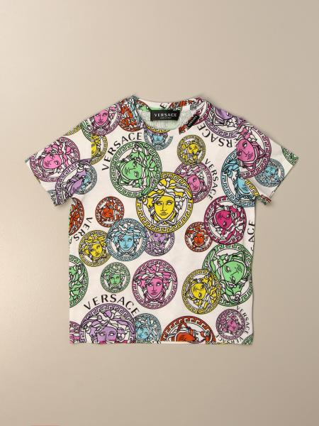 Versace Young T-shirt with all-over Medusa head
