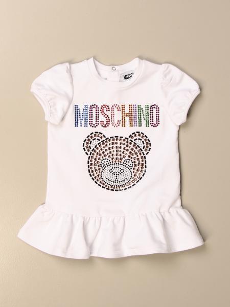 Abito Moschino Baby con big teddy di strass