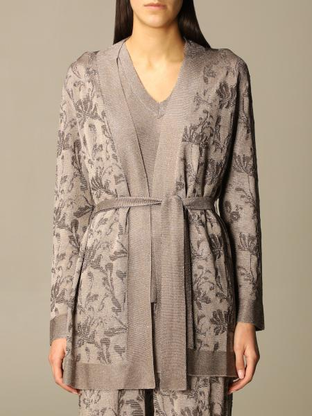 D. exterior patterned cardigan v neck