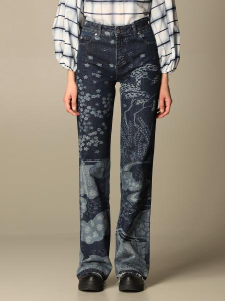Red Valentino: Red Valentino jeans in patterned denim
