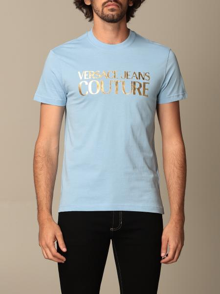 Versace Jeans Couture uomo: T-shirt Versace Jeans Couture con stampa laminata