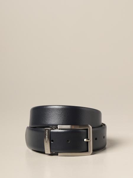 Cintura Emporio Armani in pelle saffiano