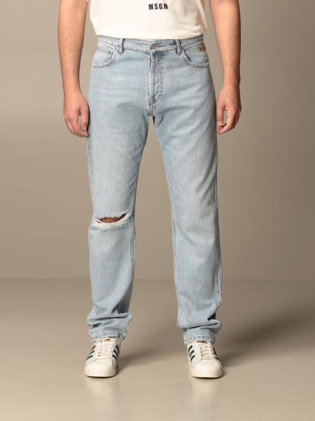 Jeans Msgm a 5 tasche con logo