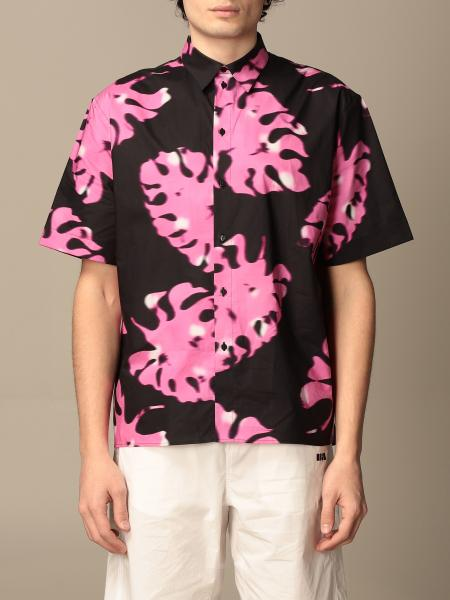 Msgm men: Msgm printed shirt with short sleeves
