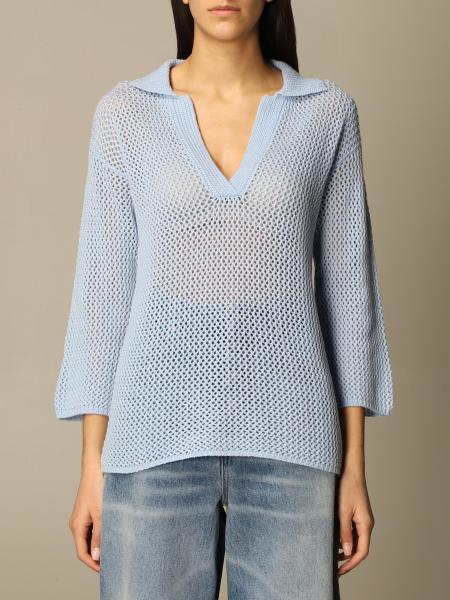 Malo: Maglia a v Malo in maglia di cashmere