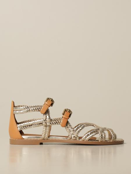 See By Chloé: Sandalo See By Chloé in pelle intrecciata
