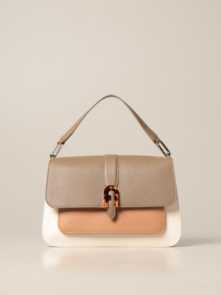 Furla: Sofia M Furla bag in bicolor grained leather