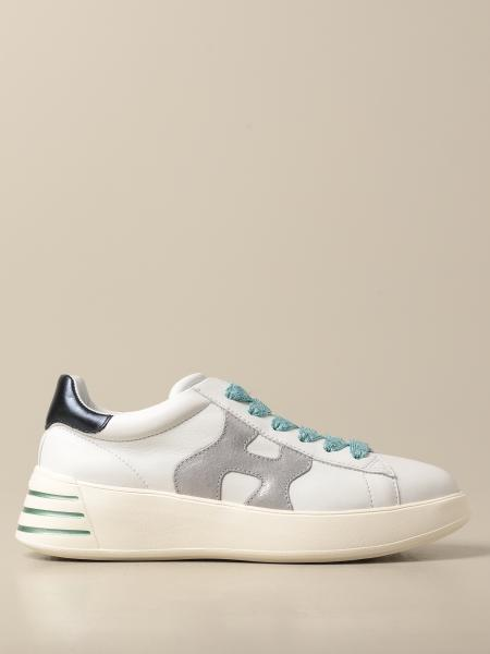 Hogan women: H564 Hogan sneakers in leather with wavy H