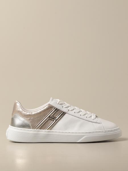 Hogan women: Hogan sneakers in smooth and laminated leather