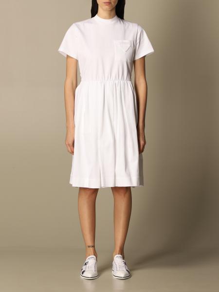 Prada women: Prada short dress in cotton with pocket
