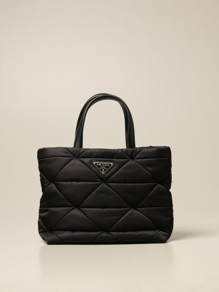 Prada women: Prada handbag in quilted nylon