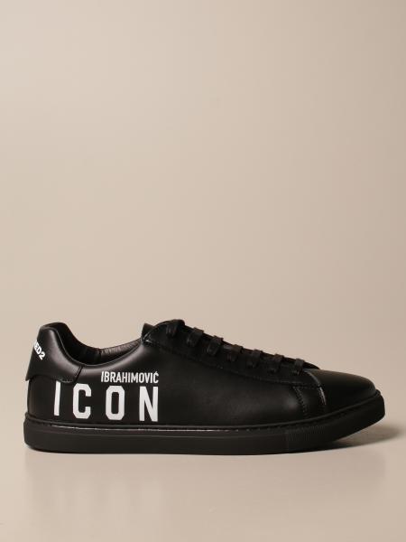 Dsquared2 uomo: Sneakers Icon lbrahimovic x Dsquared2 in pelle con logo