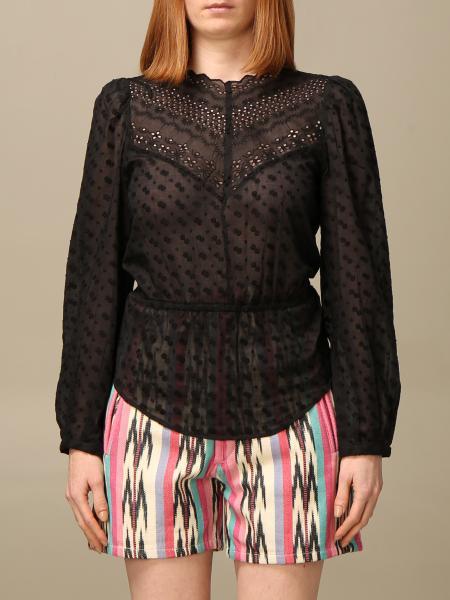 Isabel Marant Etoile: Isabel Marant Etoile blouse in semi-transparent cotton
