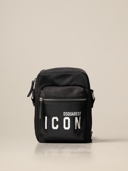 Dsquared2 nylon shoulder bag with Icon logo