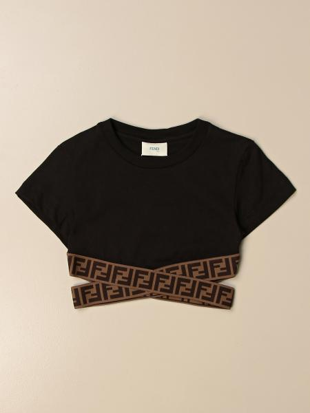Fendi cropped top with crossed bands