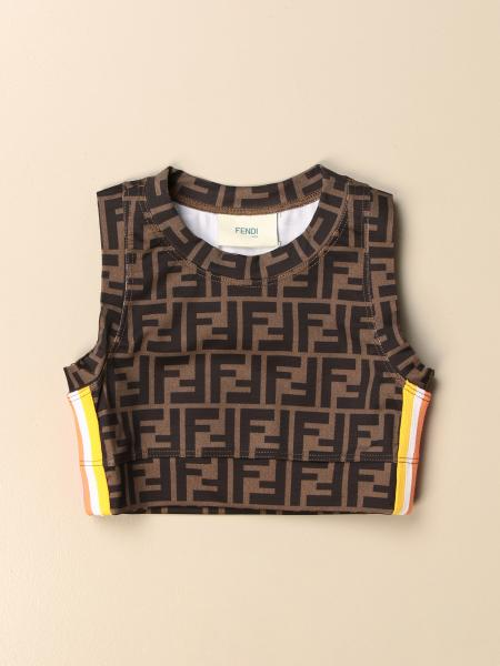 Fendi cropped top with FF monogram