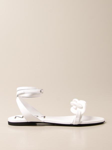 Sandalo N°21 in pelle con catena