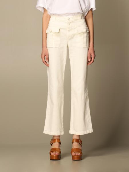 See By Chloé: Pantalone See By Chloé in cotone con tasche a toppe