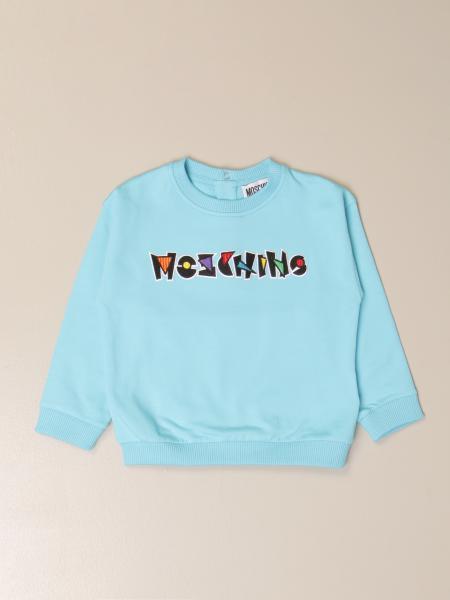 Moschino Baby crewneck sweatshirt with logo