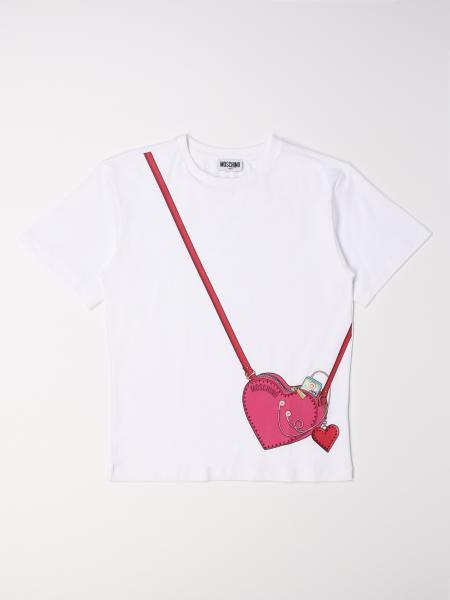 Moschino Kid T-shirt with bag print