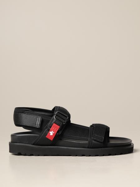 Dsquared2 uomo: Sandalo flat Dsquared2 in tessuto tecnico