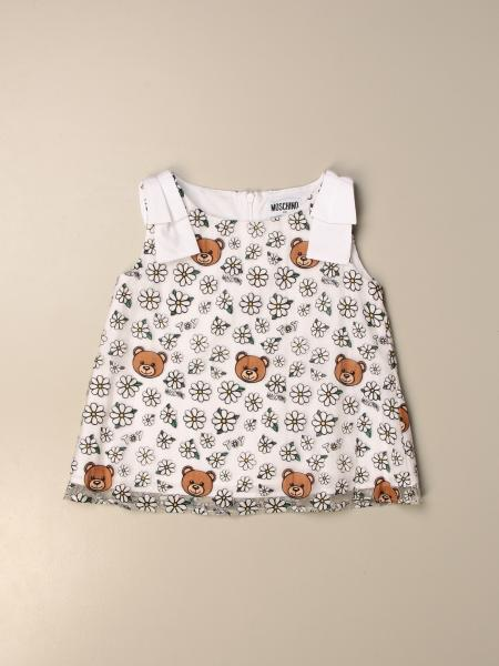 Top Moschino Kid con logo teddy all over