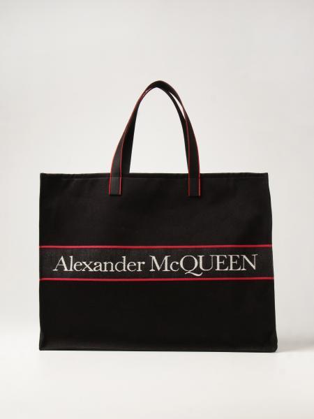 Alexander Mcqueen: Borsa Alexander McQueen in twill
