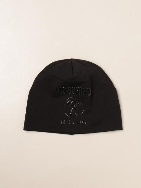 Moschino Kid beanie hat in stretch cotton