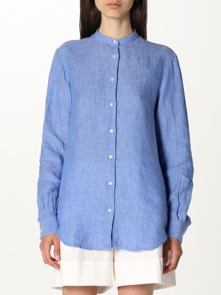 Fay women: Fay linen shirt with logo