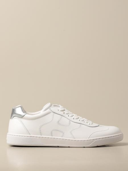 Hogan women: Hogan sneakers in leather with wavy H