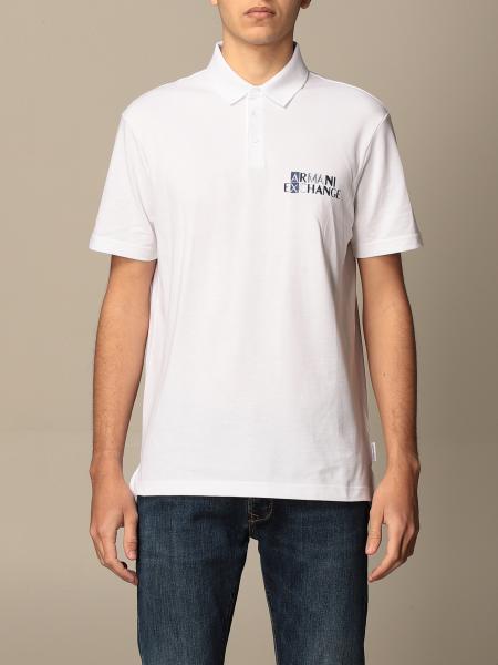 Armani Exchange basic polo shirt in cotton with logo