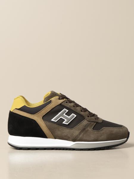 Sneakers Hogan in pelle nabuk e micro rete
