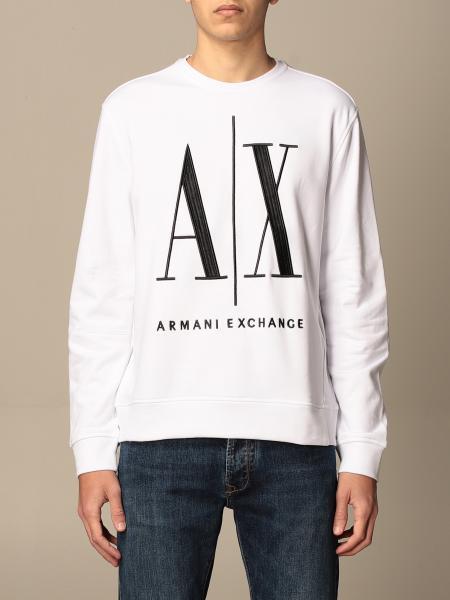 Felpa a girocollo Armani Exchange con logo AX