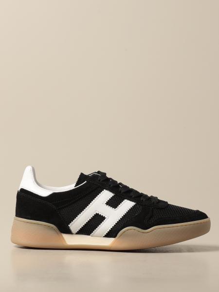 Sneakers Hogan in camoscio e micro rete con big H