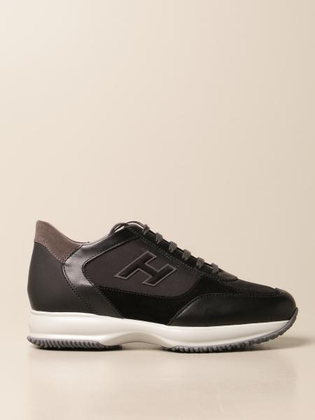 Sneakers Hogan in camoscio pelle e tela