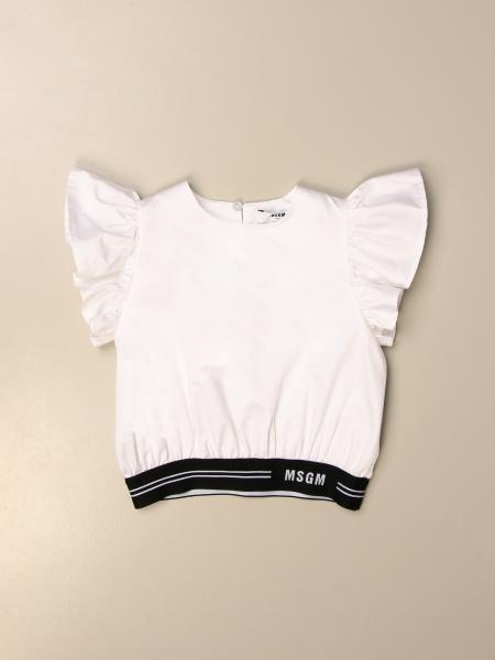 Msgm Kids top with ruffles and stretch band